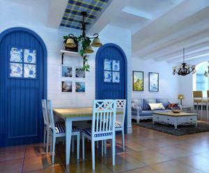 98平米两室一厅地中海风格餐厅装修图片