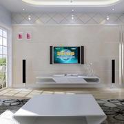经典欧式大户型客厅电视机背景墙装修效果图