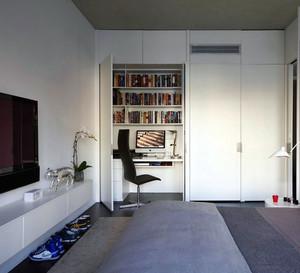 两室一厅宜家便利卧室书桌设计效果图
