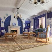 地中海风格176平米家居客厅装修图片