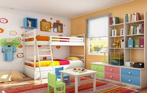彩色时尚儿童房展示