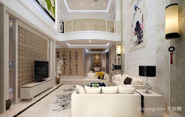 2016大户型复式楼混搭挑高客厅装饰装修图