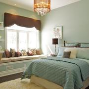 18平米宜家轻快卧室飘窗装修设计效果图