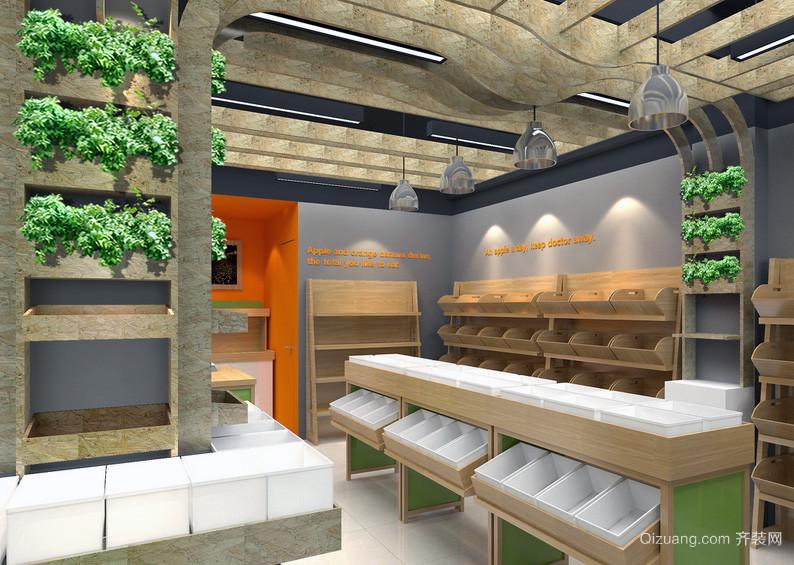 都市精致的现代水果店吊顶装修效果图