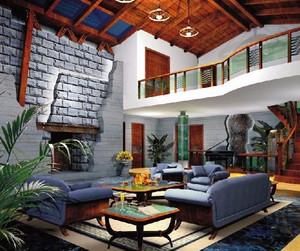 休闲唯美的海景别墅室内装修效果图实例