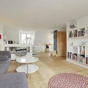浅色调书房地板欣赏