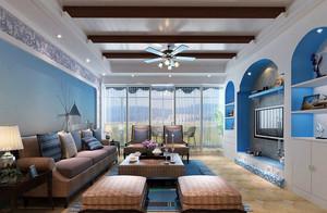 2016小别墅地中海风格客厅装修图片