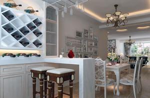 高贵的欧式风格单身公寓吧台装修效果图鉴赏