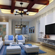 110平米新房地中海风格客厅装修图片