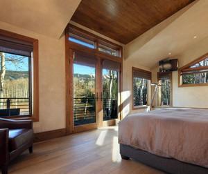 三室一厅都市朴素家居实木地板贴图