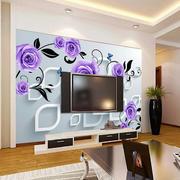 紫色玫瑰电视墙展示