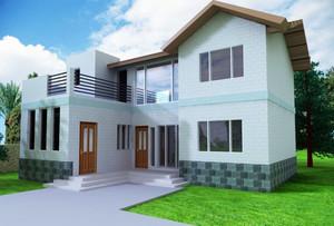 新中式农村小别墅设计效果图