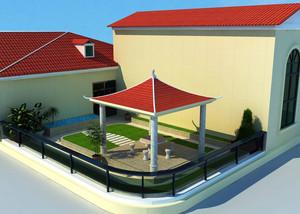 2016现代新农村一层小别墅设计效果图