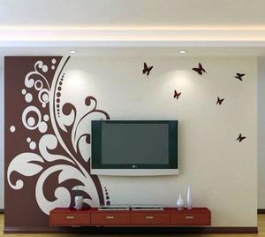 90平米家居客厅健康精致硅藻泥电视背景墙图