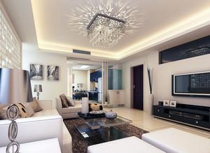 大户型现代简约装修样板间客厅装修效果图