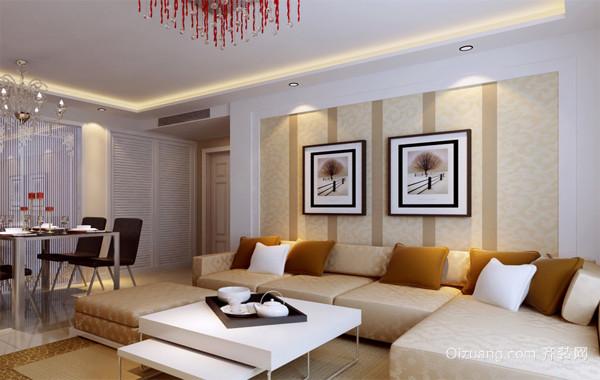 现代都市大户型客厅功能沙发背景墙装修效果图