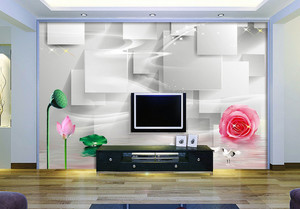 逼真形象:大户型轻快3d电视背景墙效果图