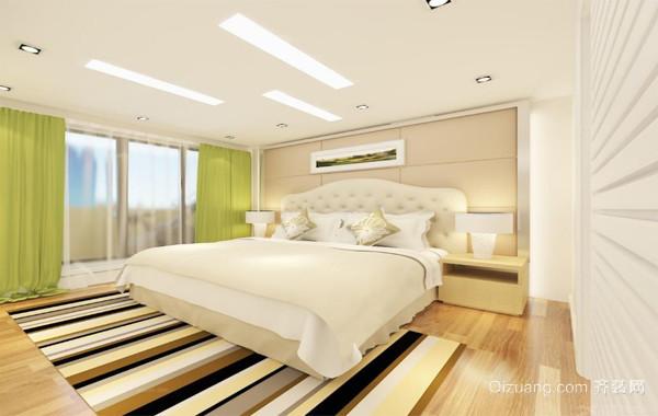 120平米欧式大户型卧室背景墙装修效果图