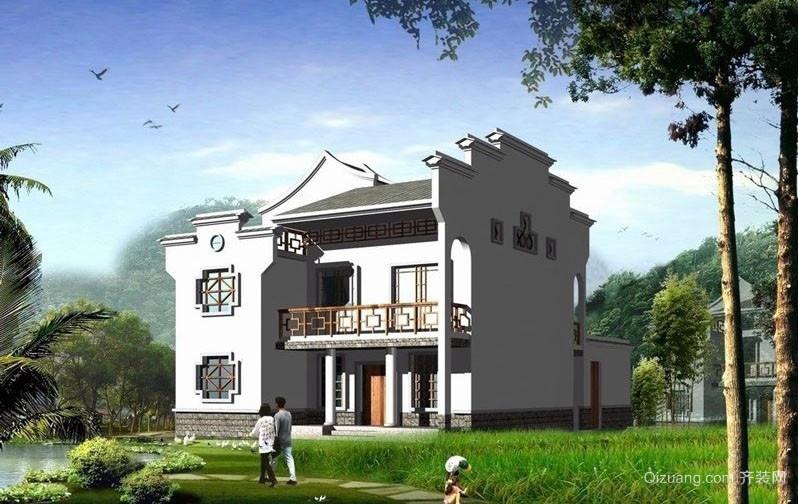趋势 新 中式农村小别墅 设计效果图