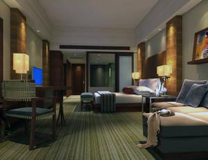 都市精致的现代小宾馆吊顶装修效果图