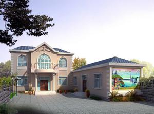 都市唯美的现代农村一层房屋设计效果图