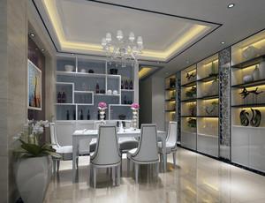 2016简欧风格大户型餐厅吊顶装修效果图