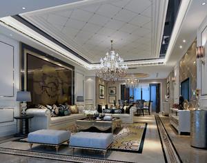 2016新古典风格客厅背景墙装修效果图鉴赏