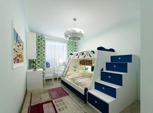 二胎时代:现代儿童房双层床设计效果图