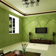 清新绿色电视墙欣赏