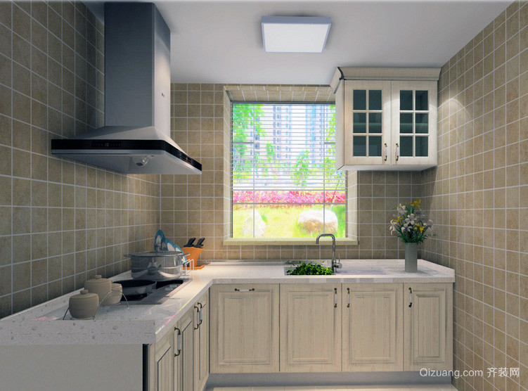欧式大户型精致的厨房装修设计效果图实例