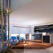 时髦大企业办公室高端茶水间装修设计图