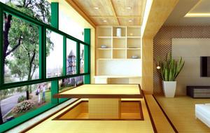 2016经典大方的大户型阳台榻榻米装修效果图