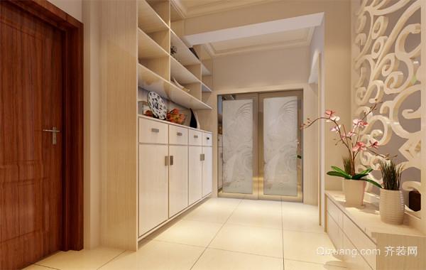 精致高贵的三居室欧式客厅鞋柜装修效果图