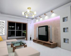 大户型欧式客厅蒙太奇硅藻泥背景墙装修效果图