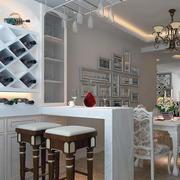 90平米大户型现代简约室内吧台装修效果图