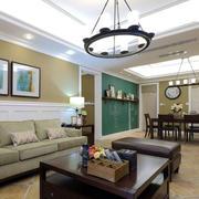 美式客厅实木茶几