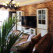美式客厅白色电视柜