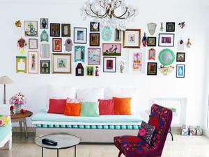 100平米大户型现代欧式客厅照片墙装修效果图