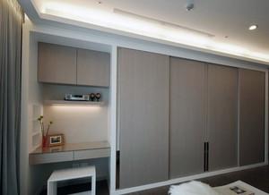 现代大户型欧式卧室整体衣柜装修效果图