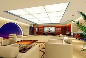 雅致大型企业总裁办公室装修设计效果图
