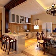 美式开放式大厨房设计