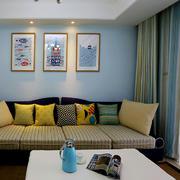 公寓客厅背景装饰画