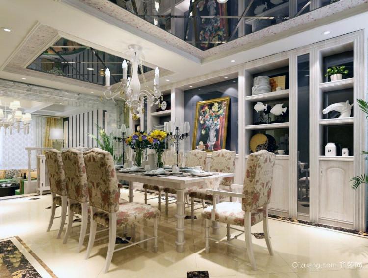 80平米小户型欧式风格餐厅装修效果图欣赏