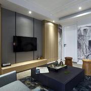 公寓现代电视背景墙