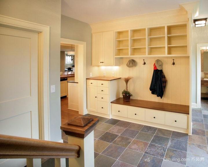 小门厅棚效果图-精致小别墅进门玄关整体鞋柜效果图