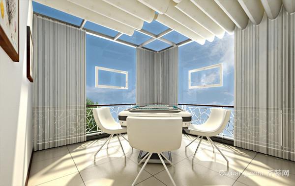大户型人家简约阳光房设计装修效果图