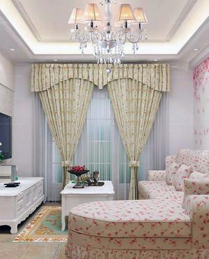 100平米大户型精致的欧式客厅飘窗装修效果图