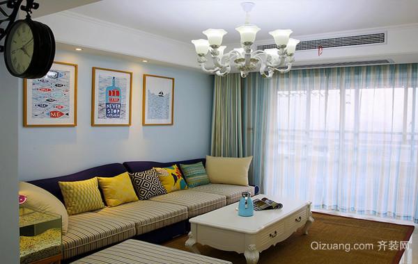一居室单身汉公寓地中海风格装修效果图
