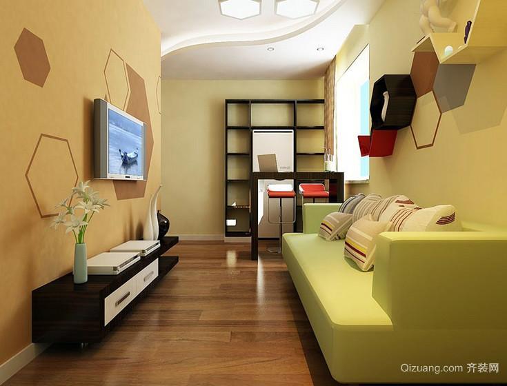 小户型62平米家装客厅轻快效果图片