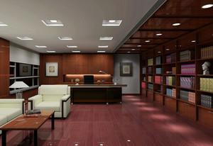 25平米精致大办公室置物柜装修设计图